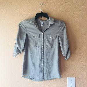 Olive button down